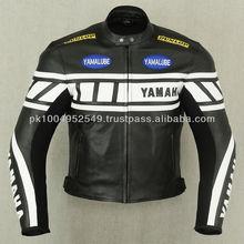 Leather Motorcycle Racing Jacket ( Full Safety Motorbike Leather Jacket )