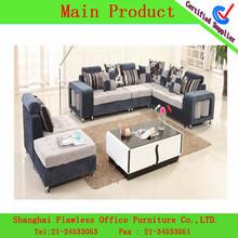 natal da sala da forma mais novo em forma de l sofá de tecido