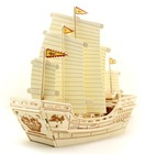 DIY wooden ship model puzzle toy for kids