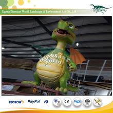 Fiberglass Garden Animal with Wall Decor Dragon