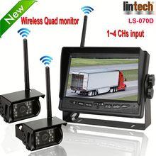 New! 7 inch digital wireless wireless car camera bus/truck camera night vision camera waterproof-cam (LS-070D)