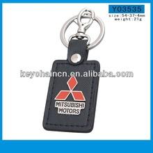 zinc alloy PU leather keychain strap