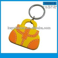 Handbag fashion leather keychain for ladies