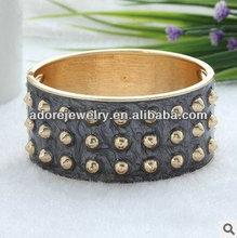 New spike style black enamel handmade metal african bracelet