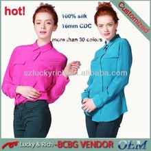 2014 fashionable lady woven long sleeve shirt