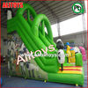 green color inflatable slide PVC inflatable toys green tree slides inflatable green slide