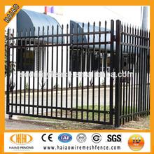 High quality spear top tubular steel fence gates