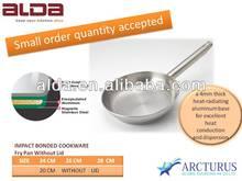 4pcs straight shape impact bottom cookware set/IB fry pan cookware