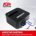 USB3.0 to 2.5&3.5 SATA HDD with Hub USB3.0 Card reader hdd Docking Station