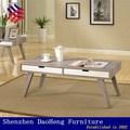 de madera de roble de papel pegadas mesa de café y la mesa final