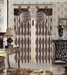2014 hot sale 100% polyester jacquard blackout fabric curtain turkey