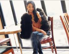 2014 new fashion design ladies elegant natural fox fur coat
