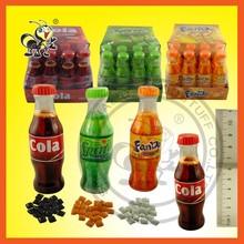Popular Cheaper Cola/Sprite/Fanda/Fruity Chewing Mini Bubble Gum In Bottle