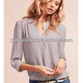 Feminina manga longa 100% seda camisa da forma, camisa da forma