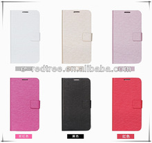 Newest luxury stand leather flip mobile back covers for Samsung S4
