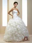 French designe Ball Gown Wedding Dress / Gown Organza Shuttlecocks Drapery