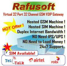 Virtual GSM Getway 32 Port & Channel VoIP supplier Rent!