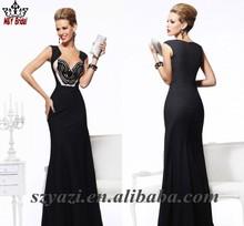 Arabic Sequin Beaded Long Evening Dresses From Dubai 2013 LJA50