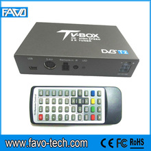 100km/h Car TV Tuner DVB-T2 Set Top Box with 3 video output for Thailand