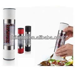 Manual soft touch salt & pepper mills