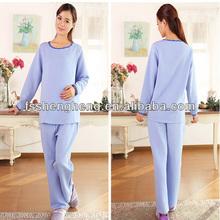 Maize grey stylish nightwear for maternity women european loungewear breastfeeding pajamas AK093