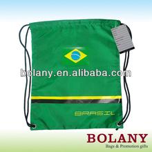 custom logo printed promotion drawstring backpack bag drawstring shopping bag