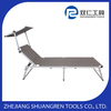 ADJUSTABLE PORTABLE ALUMINIUM SUN LOUNGER WITH SUNSHADE/CANOPY