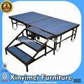 Venta caliente móvil escenario con alfombra azul xym-p04