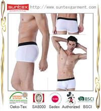 2015 New arrival Underwear plain white cotton mens underwear boxer briefs