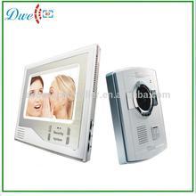 7 inch four wires video door phone CMOS video intercom system for villa