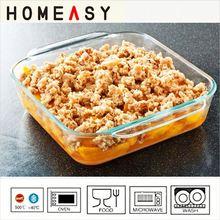 high borosilicate glass pie dish 250 ml