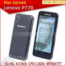 4.5 inch Lenovo p770 dual core mtk6577 3g gps lenovo cheap big screen android phone