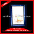 crystal slim led acrylique cadre photo lightboxes standard tailles de cadre photo