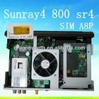 2014 Newest model Sunray4 800se Sr4 Triple/3 Tuner with DVB-S (S2) / DVB-C /T + sim A8P Card