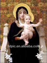 la tecnologia di stampa 3d immagine lenticolare di Virgin mary religiosa
