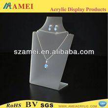 customized acrylic head piece jewelry/POP acrylic head piece jewelry