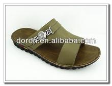 2015 Leisure customized pu beach slipper for men