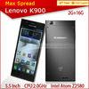Original Lenovo k900 5.5inch android 4.2 lenovo wifi phone dropship