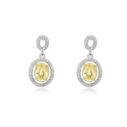 10004 European and American retro jewelry cabinet led light 925 silver diamond earrings