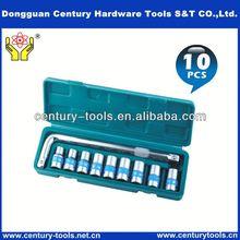 socket wrench tool set extending ratchet handle