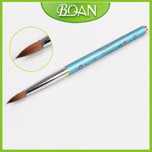BQAN Colorful Metal Handle Pure Kolinsky Brush Nail