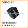 For Panasonic camcorder battery power CGA-DU07
