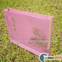 landscape paper bag with spot UV printing shopping bag goodie bag