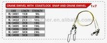 fishing tackle swivel and snap 34001 fishing wire leader