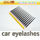 hot sell car light eyelashes with diamond cute car decorative sticker