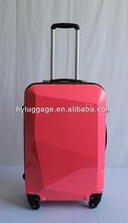 ABS + PC film luggage 360 degree rotational wheels/girls travel luggage