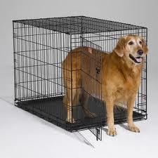 black Folding Dog Crate Cage Kennel