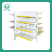 Folding metal supermarket shelf with four sides