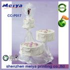 cardboard corrugated cake frame,paper display stand for wedding