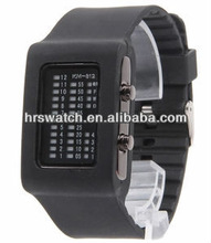 New design fashion student silicone watch